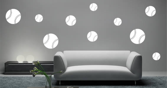 Delicieux Baseball Wall Decals