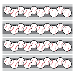 Baseball wall borders