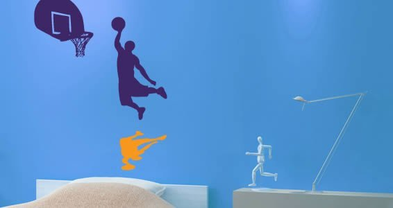 Basket Dunk wall decals
