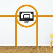 Basketball Court Line wall decals