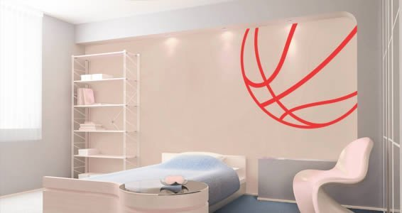 Basketball wall decals & Basketball wall decals | Dezign With a Z