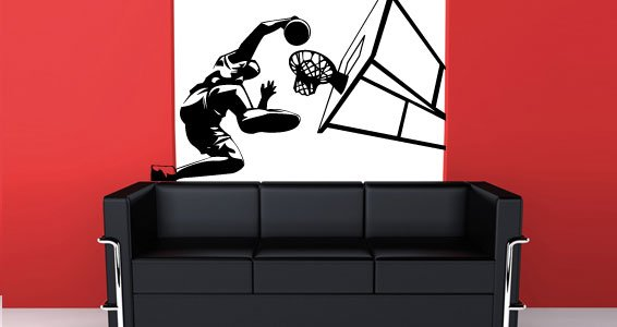 Basketball Player sport wall decals