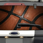 Basketball see through car decal