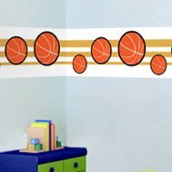 Basketball wall border