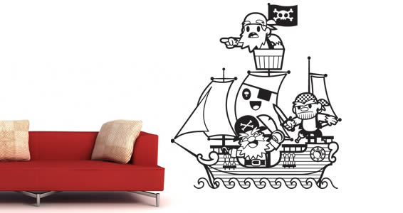 Pirates vinyl wall stickers