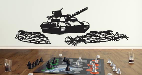 Battle Tank wall decals