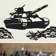 Battle Tank wall decals