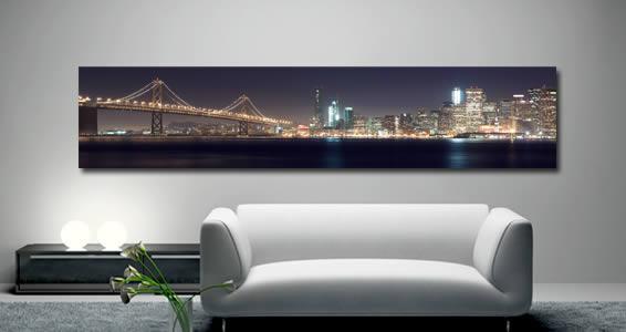 Bay Bridge -Artist Giclee Canvas by Pochette