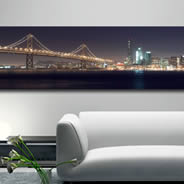 Bay Bridge -Artist Giclee Canvas by Pochette
