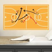 Basketball Court Dry Erase decal