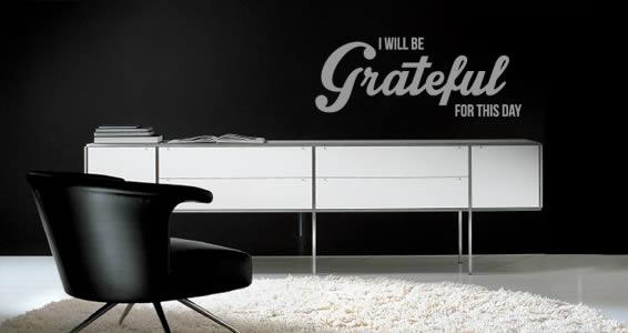 Be Grateful quote decals