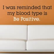 Be Positive quote wall decal