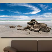 La Plage -Giclee Printing Canvas by Pochette