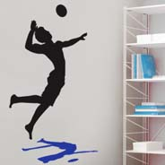 Beach Volleyball Reflection wall decal