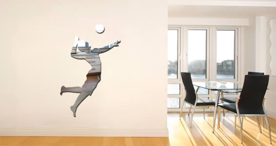 Volleyball Player wall mirrors