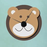 Noah's Ark Bear clock wall decal