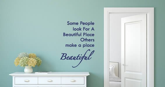 Beautiful Place quote decals