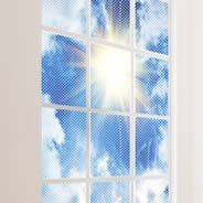 Cloud sky see through window decals