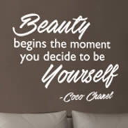 Beauty Yourself quote decals