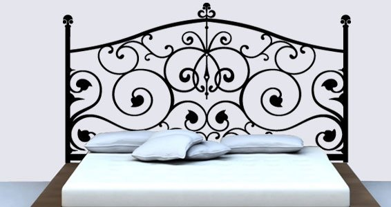 baroque headboard wall sticker | dezign with a z