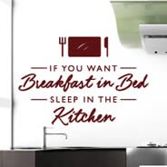 Breakfast in Bed decals