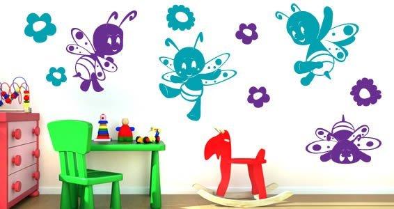 Bzzzzzzz bees vinyl wall decals