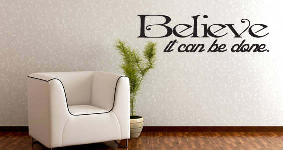 wall decals quotes Believe It