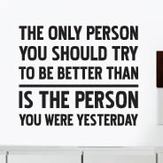Better Person wall quote decals