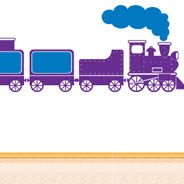 Funny Train wall decals