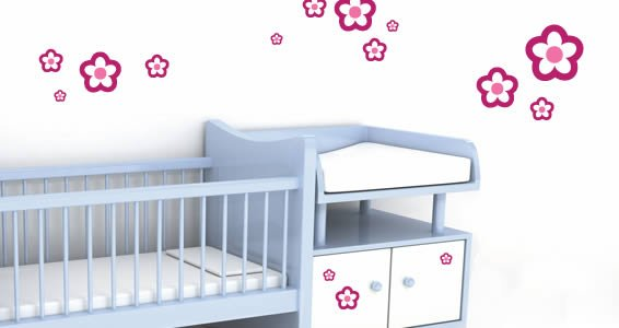 Bicolor Baby Flowers wall decals