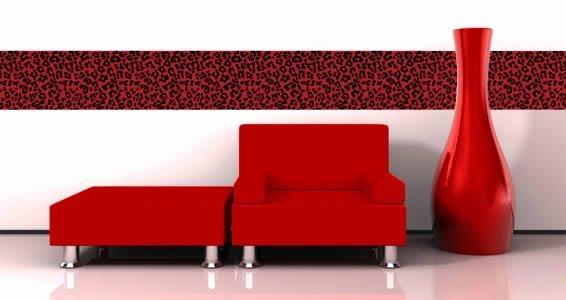 Leopard print wall decals