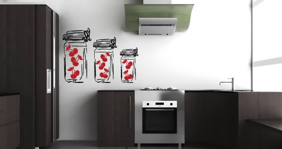 Cherry Pots decal wall graphics