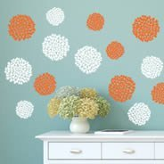 Mum Flowers wall decals