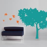 Two Shades Summer Tree decals