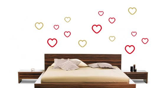 What is love...hearts wall stickers