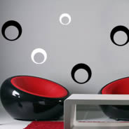 Moon Circles wall decals