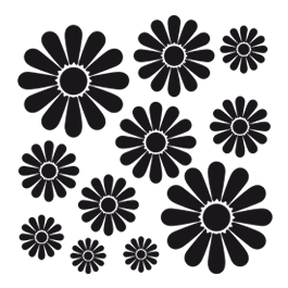 Flower Power! - wall decals