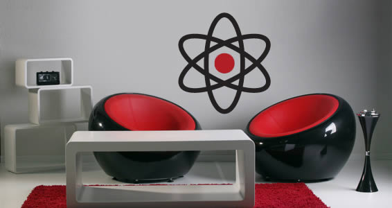 Big Atom wall decal