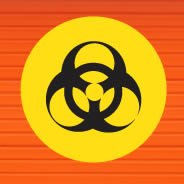 Biohazard Warning Sign decal