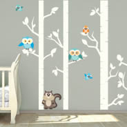 Birch Animals wall decal