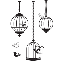 Birds in Cages wall stickers