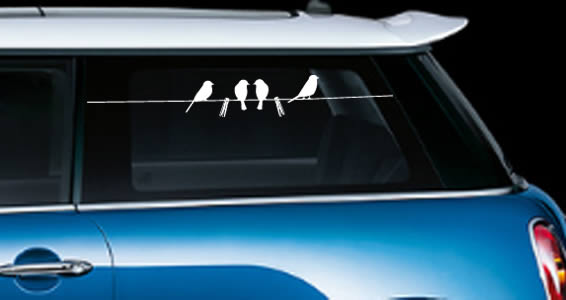 Birds car decals