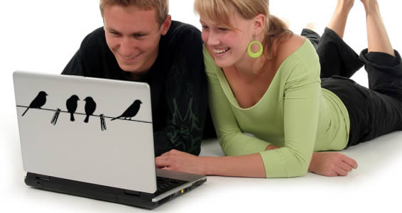 Birds -laptop skin decals