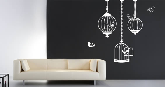 Birds Cages wall stickers