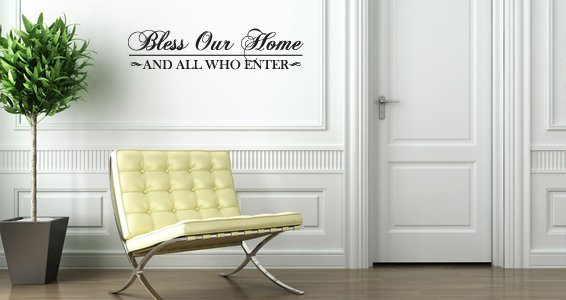 Bless Our Home decal wall quotes