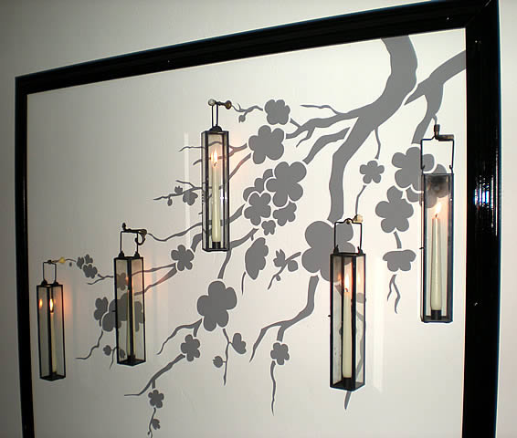 Decorative decal for dining room dezign blog for Dining room wall art stickers