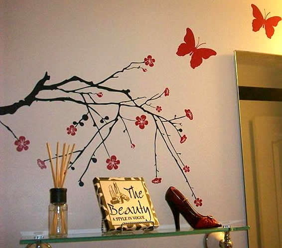 blossom branch decal decor for bathroom,connie - dezign blog