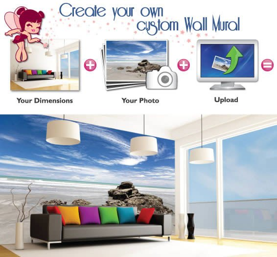 Customize your own wall mural with the fairy dezign blog for Design your own mural