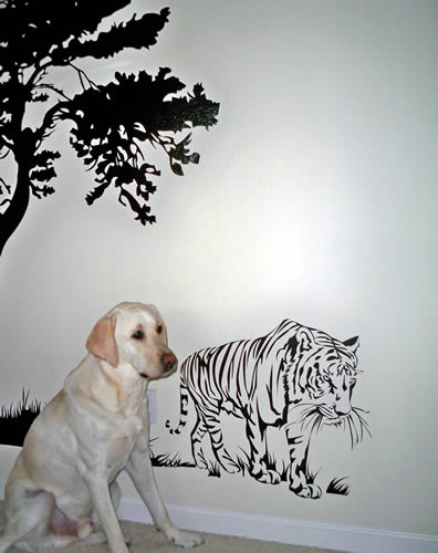 tiger wall decal. ""