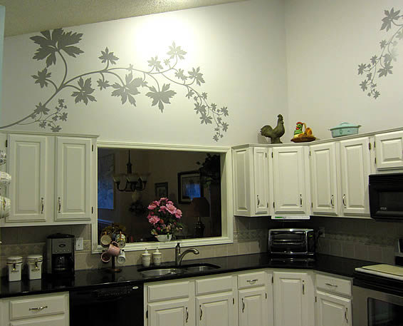 A very nice post from john decorative wall cling - Kitchen wall stickers decor ...